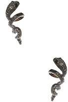 Amrita Singh Crystal Snake Statement Earrings