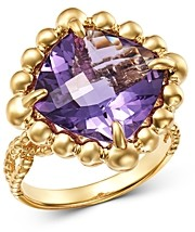 Bloomingdale's Amethyst Cocktail Ring in 14K Yellow Gold - 100% Exclusive