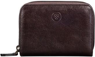 Maxwell Scott Bags Sleek Brown Leather Women S Zip Around Purse