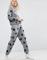 Asos Knitted Polka Dot Jumpsuit
