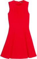Alexander McQueen Pleated wool and silk-blend mini dress