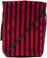 Ann Demeulemeester Striped Satchel