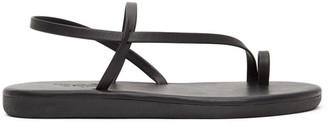 Ancient Greek Sandals Black Euterpe Sandals