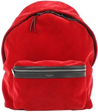 Saint Laurent Red Velvet Backpacks