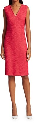 St. John Refined V-Neck Knit Dress