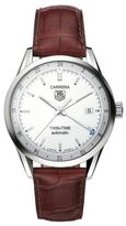 Tag Heuer Men's Carrera Stainless Brown Alligator Strap Watch
