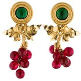 Chanel Gripoix Grapevine Earrings
