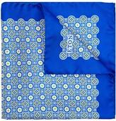 Eton Tile-print Silk Pocket Square