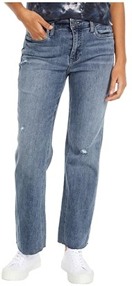 KUT from the Kloth Kelsey High-Rise Ankle Flare Inset Leg in Mastermind (Mastermind Wash) Women's Jeans