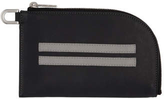 Rick Owens Black Zip Pouch Wallet