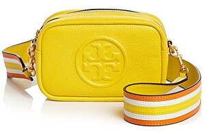 Tory Burch Perry Bombe Mini Leather Convertible Strap Shoulder Bag