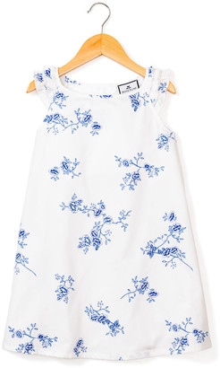 Petite Plume Girl's Amelie Indigo Floral Nightgown, Size 6M-14