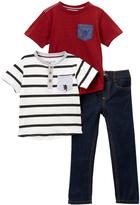 English Laundry Engine Red Pocket Crewneck Tee Set - Infant & Toddler