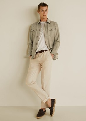 MANGO Linen cotton safari jacket