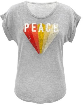 Style&Co. Style & Co Plus Size Peace-Graphic Top, Created for Macy's