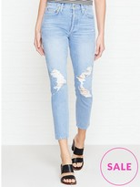 A Gold E AGOLDE Jamie High Rise Distressed Girlfriend Jeans