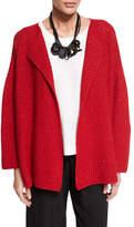eskandar Knit Cashmere-Blend Cardigan Sweater, Ruby