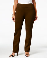 Charter Club Plus Size Cambridge Tummy-Control Ponte Pants, Only at Macy's