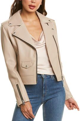 Mackage Baya-R Leather Moto Jacket