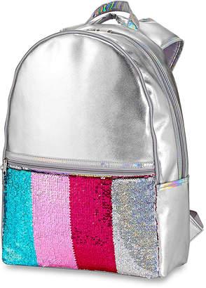 Hot Stuff Girls' Backpacks - Metallic Pink Reversible Sequin Backpack