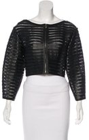 Jitrois Leather Crop Jacket