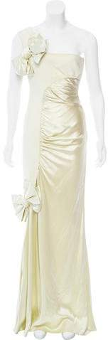 Valentino Bow-Accented Evening Dress w/ Tags