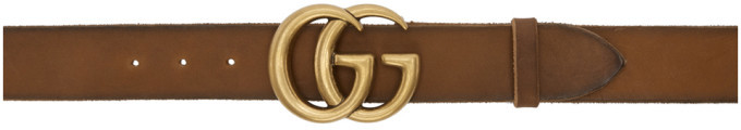 Gucci Brown GG Toscano Belt