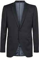 Jaeger Wool Slim Fit Suit Jacket, Charcoal