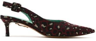 Blue Bird Shoes Onca jacquard slingback pumps