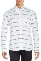 French Connection Power Lines Long Sleeve Cotton Shirt