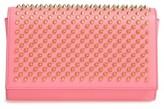 Christian Louboutin 'Paloma' Spiked Calfskin Clutch - Pink