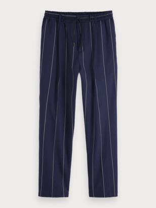 Scotch & Soda Pinstripe Linen Blend Trousers | Men