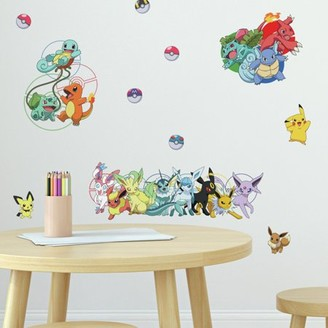 Room Mates RoomMates Pokemon Favorite Character Peel and Stick Wall Decals