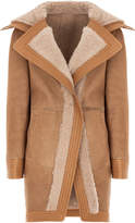 Genny Neutral Fur Lapel Coat