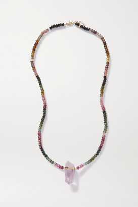 JIA JIA Arizona Gold, Tourmaline And Amethyst Necklace - Pink