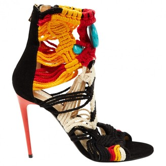 Balmain Multicolour Suede Sandals