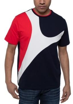 Sean John Men's Curved Colorblocked T-Shirt