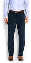 Lands' End Men's Comfort Waist 10-wale Corduroy Dress Trousers-Radiant Navy