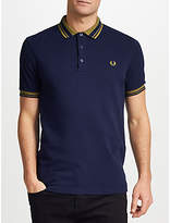 Fred Perry Contrast Collar Polo Shirt, Carbon Blue