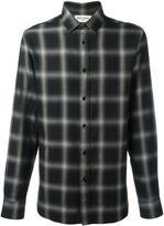 Saint Laurent classic checked shirt - men - Cotton/Tencel - 39