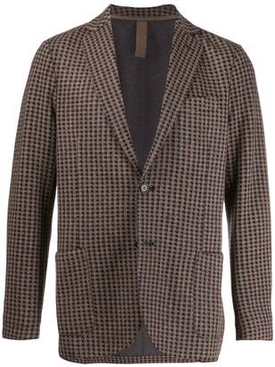 Eleventy check fitted blazer
