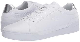 Lacoste Challenge 120 3 (White/Silver) Men's Shoes