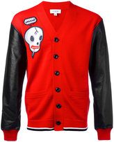 Coach skull print cardigan - men - Lamb Skin/Polyester/Lyocell/Wool - S