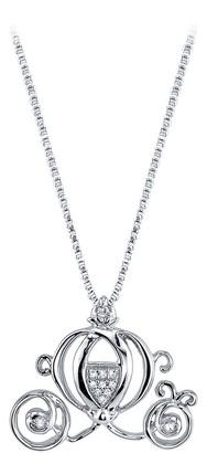 Disney Cinderella Coach Diamond Necklace
