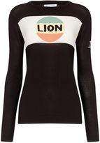 Bella Freud Black Cotton Lion Stripe Jumper