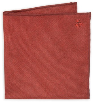 Canali Solid Silk Pocket Square
