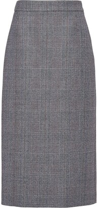 Prada Prince of Wales check skirt