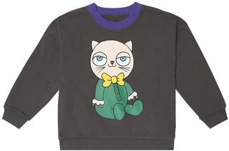 Mini Rodini Mini Baby reversible stretch-cotton sweatshirt