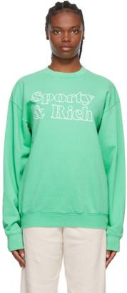 Sporty and Rich Green Fun Logo Sweatshirt