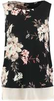 Wallis WHITE FLOWER Vest black